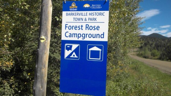 Forest Rose Campground - Barkerville - Access BC